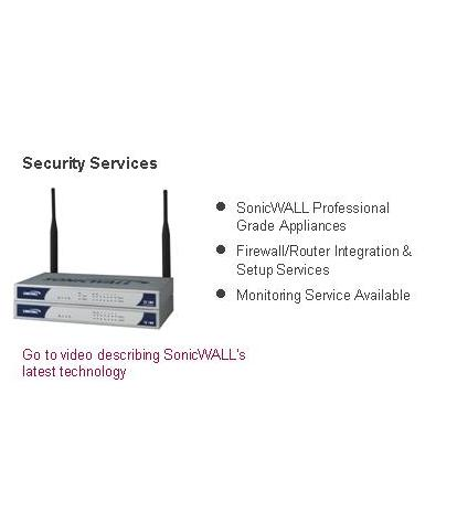 Go To SonicWALL Firewalls & Appliances Video